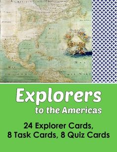 Explorers to the Americas - 24 Explorer Cards, 8 Task Card