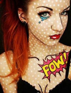 Maquillaje para Halloween estilo Pop Art