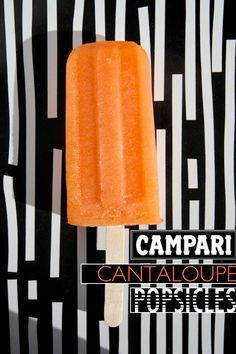 Campari Cantaloupe Popsicles // shutterbean #popsicleweek