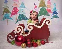 LARGE VERSION Sleigh Photo Prop Christmas by MrAndMrsAndCo on Etsy, $220.00