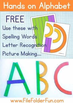 Looking for fun ways to learn the alphabet? Use these free hands on alphabet shapes and your kiddos are sure to have the strokes down in no time!Free Hands on Alphabet Printables Preschool Writing, Kindergarten Reading, Preschool Learning, Preschool Activities, Free Preschool, Alphabet Activities, Writing Activities, Teaching Resources, Preschool Alphabet