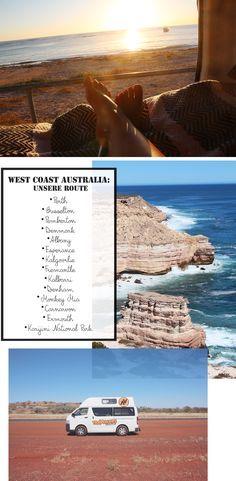 Road Trip durch Australien, Route, Westküste, West Coast Australia, Campervan