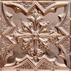 """Decorative Ceiling Tiles, Inc. Store - Large Snowflake- Copper Ceiling Tile - 24""""x24"""" -"""