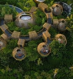 Discover recipes, home ideas, style inspiration and other ideas to try. Bamboo Architecture, Amazing Architecture, Architecture Design, Forest Resort, Resort Plan, Bamboo House Design, Natural Structures, Tree House Designs, Dome House