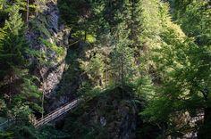 Orrido dello Slizza, ponti e passerelle sui costoni di roccia, fotografia di Massimo Variolo, via flickr  http://blog.viaggiverdi.it/2013/09/canyon-in-italia-scopriamo-dove-sono/