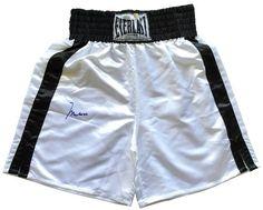 Muhammad Ali Signed White Everlast Boxing Trunks ALI Hologram+COA 094