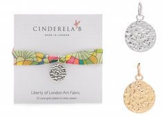 "CINDERELA B Liberty of London ""Nouveau"" Print fabric Wrap Bracelet & Ancient Coin Charm #ShopifyPicks Lush Labels British designed jewellery, accessories & gifts"