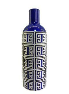 A Loja do Gato Preto | Jarra Geométrica Azul #alojadogatopreto