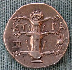 This is an ancient Greek coin with the image of a Silphium plant on it. This plant belonging to the fennel family  had many medical uses, but most prized for its effectiveness at birth control. For over 600 years, Silphium provided the women of the ancient world with the power of family planning. Its seed was heart shaped, and most likely the source of our popular image of the heart. It grew only on a small part of Northern Africa near Cyrene and was cultivated to extinction by 1st century AD.