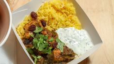 This Madras chicken curry dish is a flavourful feast which includes a smooth and spicy kick, saffron rice and a cooling raita on the side to balance all of the exciting flavours. MasterChef 10