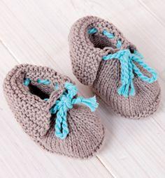 Modèle chaussons bébé bicolore