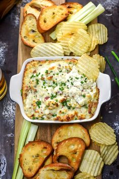 If you're the sort of snacker who will proceed to dip every appetizer on the sampler platter in the tiny side of blue cheese long after the wings have been eaten, you are in the right place. Welcome. You are amongst your people here, and this Baked Bacon Blue Cheese Dip is about to rock...Read More »