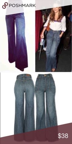 High Waist Flair Jeans As seen on Jessica Alba, JLO, and Kelis! Get the look! Jeans Flare & Wide Leg