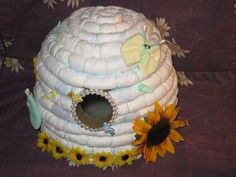 A bee hive. | 31 Diaper Cake Ideas That Are Borderline Genius