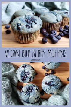 The Best Vegan Blueberry Muffins - Not Just Soy Vegan Blueberry Muffins, Blue Berry Muffins, Baking Cups, Muffin Tins, Perfect Breakfast, My Recipes, Vegan Vegetarian, Almond, Good Things