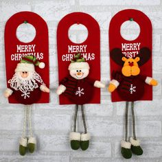 Purchase Santa Claus/Snowman Ornaments Festival Party Xmas Door Lock Hanging Decoration from Bluelans on OpenSky. Snowman Ornaments, Hanging Ornaments, Christmas Tree Ornaments, Santa Claus Christmas Tree, Kids Christmas, Xmas, Mobiles, Christmas Material, Christmas Door Decorations