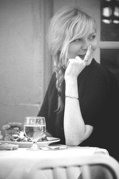 Kirsten Dunst. i just kind of love her.
