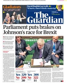 The Guardian 23 Oct 19 Newspaper Frame, Newspaper Front Pages, Bbc News Channel, The Guardian, 20 Years, About Uk, Britain, It Hurts, Headboards