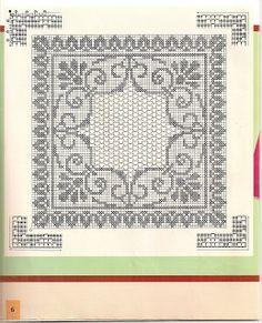 Kukicanje Je Zabava I Umjetnost 2003 Art Au Crochet, Crochet Lace Edging, Crochet Doily Patterns, Crochet Borders, Crochet Squares, Free Crochet, Filet Crochet Charts, Knitting Charts, Cross Stitch Fabric