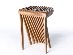 The Lowly Folding Chair, Reimagined With Algorithms | Meet Swish, a folding stool with simple looks that belie how it was made.  | Credit: Carlo Ratti Associati | From Wired.com
