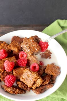 Paleo Cracklin Oat Bran Cereal - made with Golden Barrel Blackstrap Molasses and Coconut Oil.