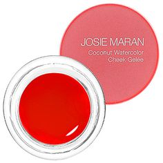Josie Maran'sCoconut Watercolor Cheek Gelée is the perfect summer blush. It's a super light, hydrating gel stain that's waterproof so stays put in the heat. I love Poppy Paradise, a cool toned pink