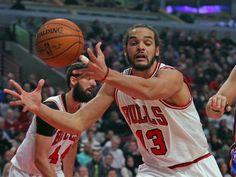 Mar 5, 2015: Bulls center Joakim Noah grabs a rebound