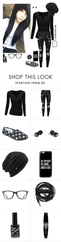 """""""I really love plants"""" by emokittyyy ❤ liked on Polyvore featuring Doublju, Topman, Marmot, Casetify, Ray-Ban and Urbanears"""