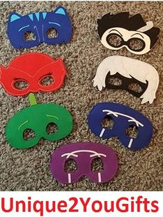 PJ Masks Mask di Unique2YouGifts su Etsy