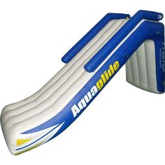 Aquaglide Freefall Inflatbale Pontoon & Dock Slide | Yellow/White/Blue