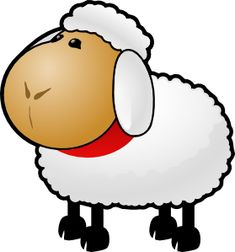 cartoon sheep clip art vector clip art online royalty free rh pinterest com sheep clip art free gif sheep clipart images