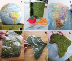 $5 Friday: Globe upcycled for Spring! - My Sister's Suitcase - Packed with Creativity