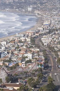 """Mission Beach, San Diego. Inspiration for my painting """"Pacific Coast Highway"""" https://www.facebook.com/dovesoup/"""
