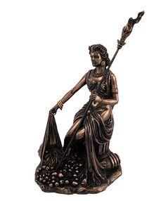 ギリシャ女神 デメテル 大地の女神 ブロンズ風彫像 彫刻_画像1