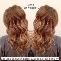 Sombre Balayage dark blond by Carleen Sanchez Hair artist Reno,NV