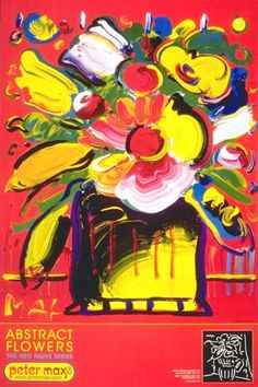 Abstract Flowers Peter Max