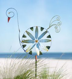 Metal Swan Wind Spinner