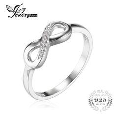 Jewelrypalace infinity forever loveキュービックジルコニア周年プロミス·リングの本物の925スターリングシルバーファインジュエリー