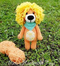 Вязаная игрушка лев крючком