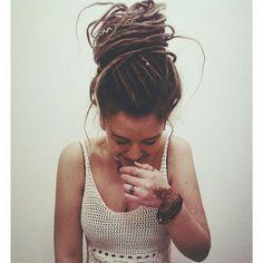 My life long dream is to finally get dreads. In actuality, it'll always just b. My life long dream is to finally get dreads. In actuality, it'll always just be a dream lol - # Dread Braids, Dreadlocks Girl, Dread Bun, Locs, Dreads Women, Dreadlock Styles, Dreads Styles, Dreadlock Hairstyles, Cool Hairstyles