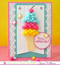 Make the cutest ice cream cone card ever with the Birthday Bash Card Kit! Homemade Birthday Cards, Girl Birthday Cards, Birthday Bash, Homemade Cards, Papyrus Cards, Tarjetas Diy, Shaker Cards, Card Kit, Kids Cards