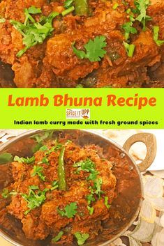 Easy Indian Lamb bhuna recipe. A step to step cooking guide with pictures to follow and make this simple flavourful Indian lamb curry dish. #indianlambrecipe #lambcurry #lambbhunarecipe #indianfoodrecipe