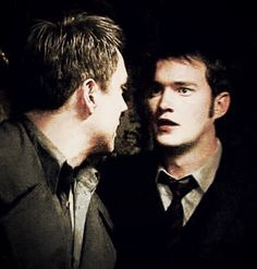 John Barrowman and Gareth David-Lloyd in Torchwood Gareth David Lloyd, Captain Jack Harkness, Bbc Tv Series, David Tennant Doctor Who, John Barrowman, Doctor Who Quotes, Rory Williams, Donna Noble, Amy Pond