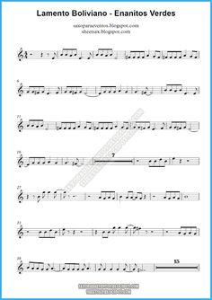 Partitura y pista de Lamento Boliviano de Enanitos Verdes | Partituras y pistas para saxo | Sheet music and Play Along for sax The Piano, Because I Love You, My Love, Trumpet Sheet Music, Saxophone Sheet Music, Piano Songs, Music Theory, Guitar Chords, Proposal