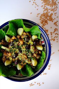 Insalata di farro monococco e ceci allo zenzero - GranoSalis - Blog di cucina naturale e consapevole