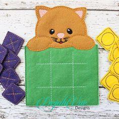 Cat Tic Tac Toe Diy Quiet Books, Baby Quiet Book, Quiet Toddler Activities, Tic Tac Toe Game, Tic Toe, Felt Games, Felt Sheets, Felt Baby, Felting Tutorials