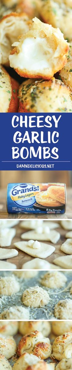 Cheesy Garlic Bombs | Pinterest: ilovevg
