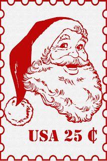 FREE Santa Print For Framing www.247moms.com #247moms