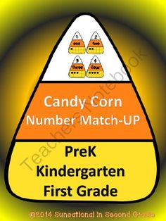 Candy Corn Number Match-Up (1-20) from Sunsational~in~Second Grade on TeachersNotebook.com -  (8 pages)  - Candy Corn Number Match-Up (1-20). Students match numerals to number words and ten frames.