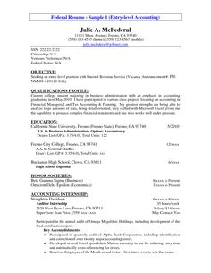 resume accounting objective